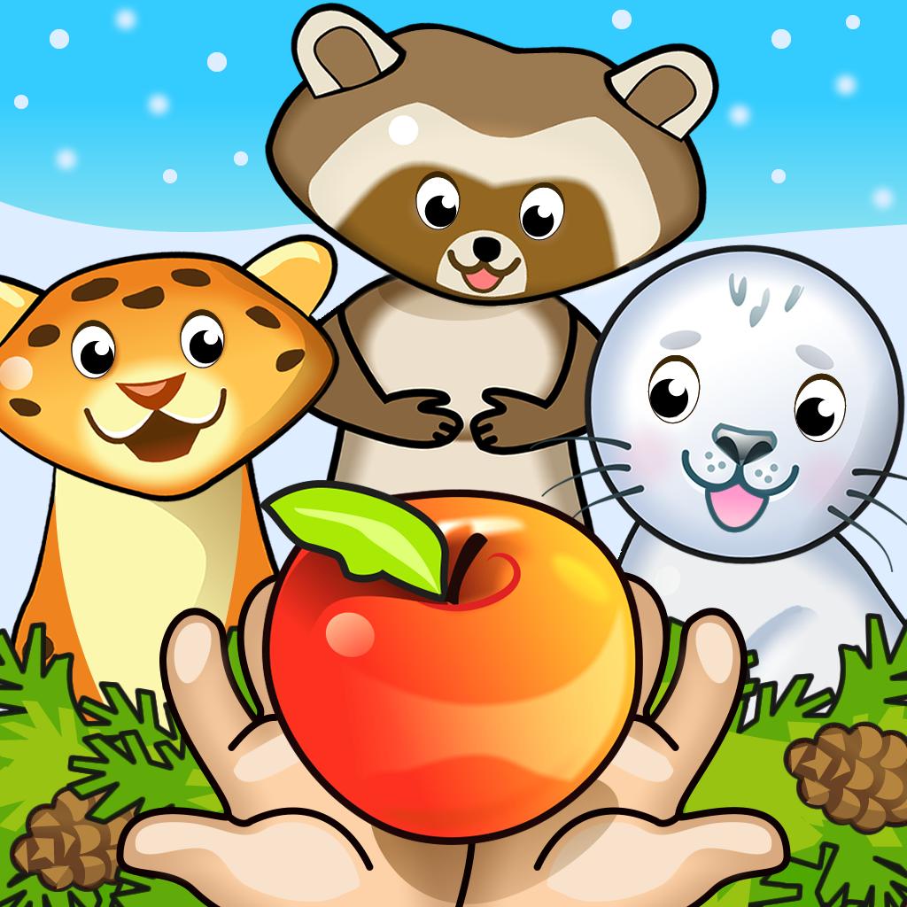 Зверята - Развивающие игры для детей